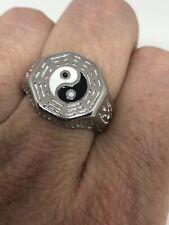 Vintage Ying Yang Men's Ring Stainless Steel Size 8