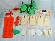 Lot of Estate Sale Retail Pricing Supplies Hang Tags Tear Tags Labels Stickers