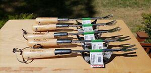Lot Of 5 Corona Professional Grade Wood Handle Stainless Steel Weeders W/Fulcrum