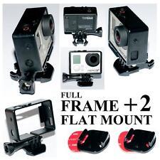 Cornice Case Camera Gopro Hero3+ Frame Mount+Base+ViteLunga+2SupportiPiatti Flat