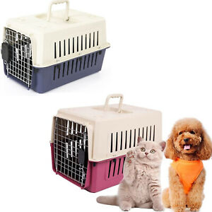Lonabr Portable Pet Airline Box Travel Carrier Crate Plastic Dog Cat Cage Kennel