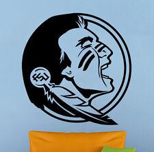 Florida State Logo Wall Decal Vinyl Sticker Art Sport Home Decor NCAA Football