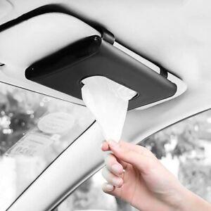 Car Tissue Box Cover Towel Sun Visor Paper Napkin Case Holder Organizer Storage