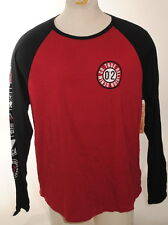 True Religion Raglan L/S Baseball Shirt Ruby Red / Black Men's Size 2XL $79 F2F