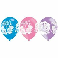 6pk Shimmer & Shine 4 Sided Print Latex Balloons Birthday Party Decorations
