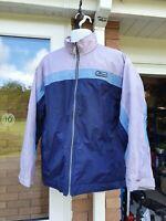 Vintage Retro 90's Large Mens Ellesse Festival Ski Jacket Purple & Blue