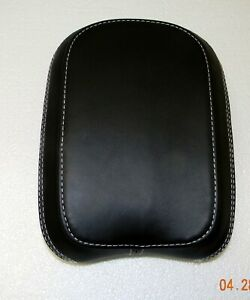 New - Indian Sissy Bar Back Pad or Passenger Seat Backrest,  Black Leather