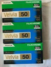 15 Rolls - Fujifilm Fujichrome Velvia 50 (RVP) - Color slide film 120 New W/Box