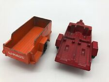 Tootsietoy Trailer Lot of 2 Die Cast U-Haul Red Motorcycle Trailer