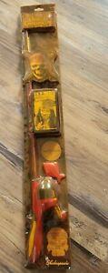 Sealed,Shakespeare Children's Pirates of the Caribbean Fishing Kit!Rare!Dead Man