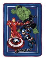 """Marvel avengers blanket 62"""" x 90"""" hulk Iron Man captain America"""