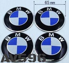 4 x 65mm BMW Wheel Stickers Badges For Alloy Center Caps Aluminium Metal Emblem