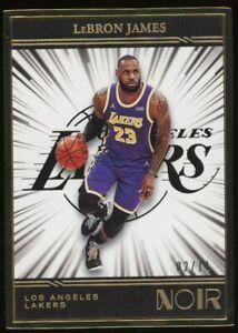 2020-21 Panini Noir Framed LeBron James Los Angeles Lakers /11