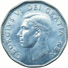 More details for coin / canada / 5 cent 1952 unc mint state   #wt23871