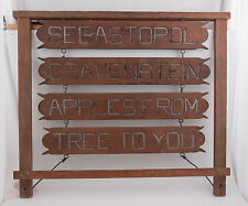 Sebastopol Gravenstein Apples From Tree to You Hanging Wood Sign Wooden Vintage