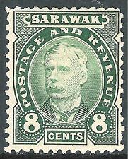 Sarawak 1895 green 8c mint SG31