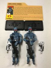 GI Joe Cobra Resolute Figure Lot BBTS Exclusive Alley-Viper x2 Army Builder