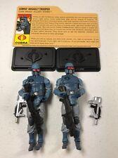 GI Joe Cobra Resolute Figure Lot BBTS Exclusive Alley-Viper x2 Army Builder