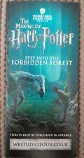 "The Making of ""Harry Potter"" Warner Bros Studio Tour London Flyer Gatefold"