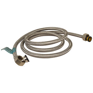 Stainless Steel Washing Machine Hose Inlet 3/4 Braided Hot & Cold 2.2M