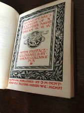 SHAKESPEARE A Midsummer Night's Dream 1906 little hardcover JM Dent Aldine RARE