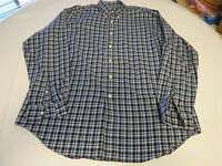 Ralph Lauren Blake Mens L long sleeve black bule button up Shirt EUC@
