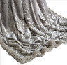 Silver - Crushed Velvet Soft Sofa Bed Chair Home Decor Throw Size 150 x 200cm