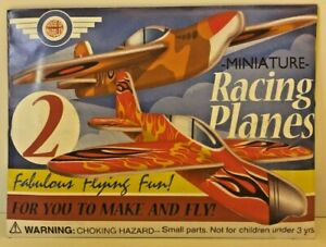 (RO) Miniature Racing Planes Toy to Make & Fly Pk of 2 Christmas Stocking Filler