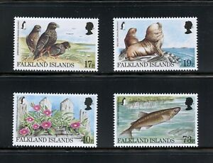 C345  Falkland Islands  1997   birds  fish Endangered Species   4v.    MNH