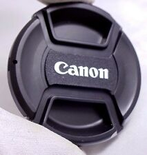 Canon 55mm front lens cap Snap on Center Pinch