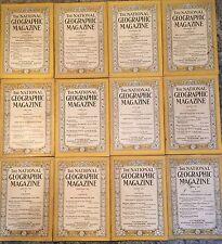 1928 Full Year 12 National Geographic Magazine 1928 Set Magazines Good +