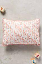 Anthropologie Pink Giraffe Toddler Baby Boudoir Pillow Sham NEW 12 x 16