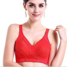 New Womens 32-42 A B C D E F G Full Cup Bra Floral Lace Wireless Soft Underwear
