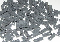 Lego Lot of 100 New Dark Bluish Gray Plates Modified 1 x 2 with Handle Pieces
