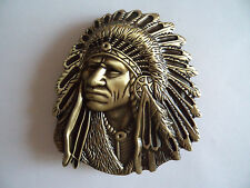 Red Indian Chief Country & Western Pewter Jeans Belt Buckle Line Dance