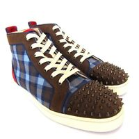 L-2573607 New Christian Louboutin Hi-Top Spike Sneakers Size US-13 Marked-46