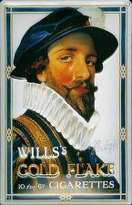 Wills Gold Flake Walter Raleigh embossed steel sign  (hi 3020)