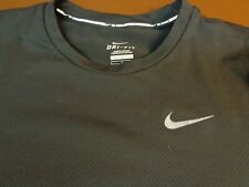 "Nike Running Dri-Fit Athletic T Shirt Size Large Black ""Barrys"" Logo on Back L16"