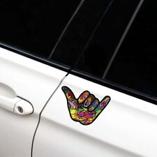 2Pcs Shaka Hang Loose Graffiti Car Window Laptop Decal Reflective Sticker NEW