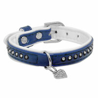 Leather Puppy Small Rhinestone Dog Collars Cheap Pet Dog Collars Necklace
