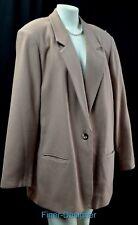 Sag Harbor Woman camel Wool Boyfriend Blazer Career Jacket light coat SZ 22W VTG