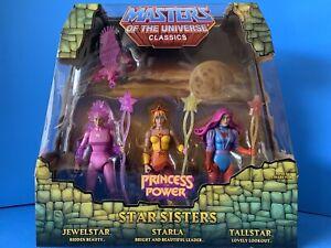 Masters of the Universe Classics Star Sisters 3 Pack Starla Jewelstar Tallstar