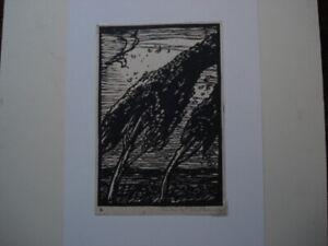 Sir Frank Brangwyn - Original Artists's Proof Woodcut - The SQUALL  1919
