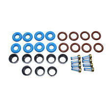 For Chevy GMC V8 Fuel Injector Repair Service Kit Filter O-Ring Plastic Cap New