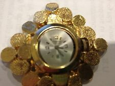 VINTAGE KINGSTON  LADY PENDANT WATCH  gold hammered look