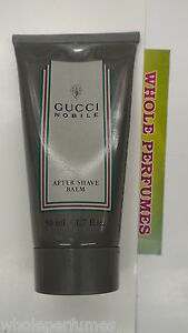 GUCCI NOBILE MEN AFTERSHAVE BALM 1.6/ 1.7 OZ/50 ML NEW IN TUBE AS PICTURED