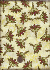 """""""Memories Kandesh Collection"""" Print olive rose on cream Fabric by Art Gallery"""