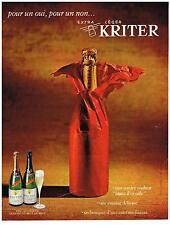 PUBLICITE  1967    KRITER   vin mousseux