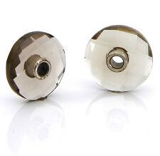 Genuine Trollbeads Smoky Quartz Earrings (no hooks)  925S LAA - 86106 RRP£50!!!