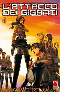 Planet Manga - L'Attacco dei Giganti 4 - Ristampa - Nuovo !!!